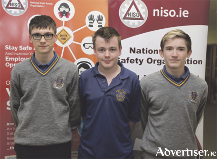 Table 10 team representing the Marist College at the NISO quiz recently in AIT including Edward Clarke, Jack Mullally and Josh Earley.