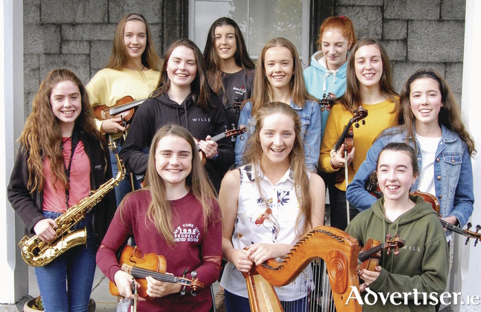 The young Galway musicians who will be performing with the Irish Memory Orchestra this month.
