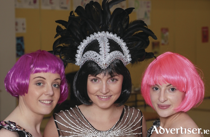 Tracy Long, Katie Bebbington, and Aoife Horan rehearsing for 9 Arch Claregalway Musical Society's production of Joseph. Photo:- Mike Shaughnessy
