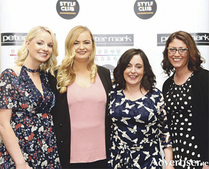Lorraine Maloney, Michele Fitzgarald,Orla Quinn and Naimh Meehan from the Athlone salon pictured at the Peter Mark Long Service Awards at the Sheraton Hotel on Monday, November 6