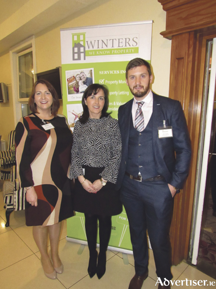 The Winters Property Management letting team: Jane Fletcher Cahill, Deirdre Greaney, and Conor Tannian.