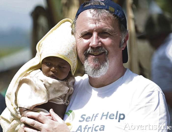 Ronan Scully of Gorta-Self Help Africa with young beneficiary Yeabsira in Ethiopia.