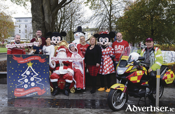 "Pictured at the launch of the ""Light up Galway City campaign"" were L to R :