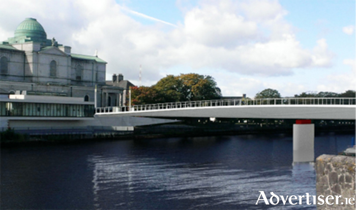 The proposed new bridge at Athlone.