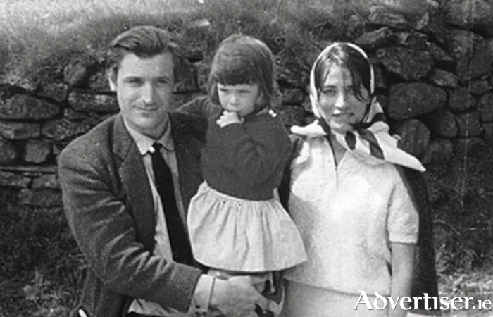 Ted Hughes with Assia and her daughter Shura in happier times.