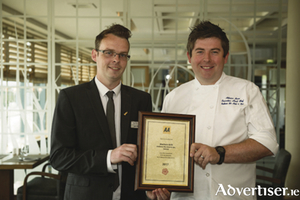 Head chef Adrian Bane with general manager, Andrew Drysdale.