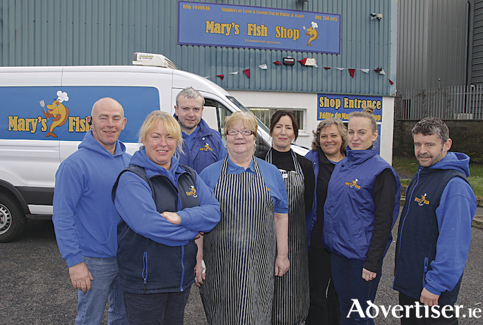 The team at Mary's Fish Shop, Ballybane. Photo: Mike Shaughnessy.