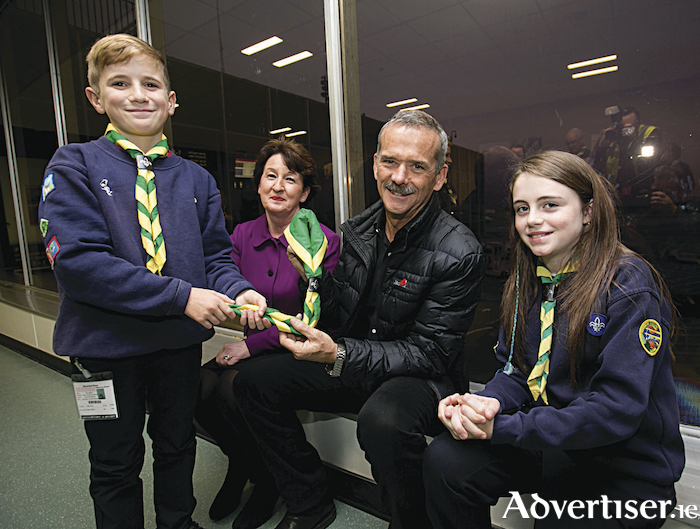 Chris Hadfield pictured at Shannon Airport this week.