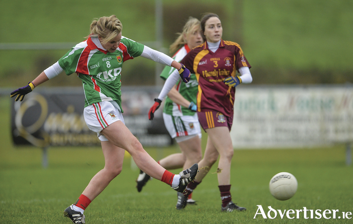 Goal getter: Fiona McHale fires home Carnacon's first goal. Photo: Sportsfile