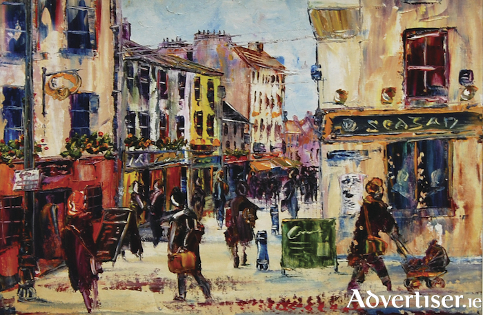 Tigh Neachtain, Quay Street by Fran McCann. Oil on canvas board