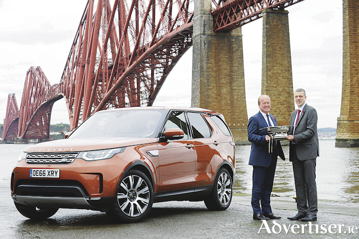 The Land Rover's Discovery has been crowned Scottish Car of the Year 2017. The award presentation with the award-winning Discovery at the iconic Forth Rail Bridge, South Queensferry, Scotland.