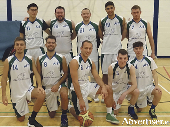 AIT Men's team: Back row - Xiaogang Wei, Alan Jennings, Craig Sheriff (capt), Alberto Viggiano, and Cathal Gill. Front row: Alessandro Cornacchia, Giovanni Di Mauro, Alessandro Cognome, Conor Leen and Kevin O'Flaherty. Missing from photo: Ken Ighor
