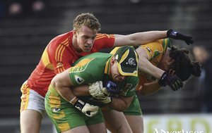 Rough and tumble: Danny Kirby and Castlebar Mitchels are looking for revenge for last years defeat to Corofin on Sunday. Photo: Sportsfile.
