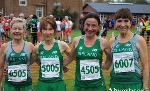Mayo AC medal winners in Derry: Mags Glavey, Angela O'Connor, Colette Tuohy and Pauline Moran