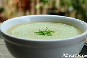 Delicious Leek and Potato soup is lovely this time of year
