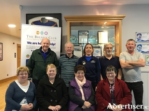 Participants in the cardiac rehab class with their instructor  Emer O'Toole at The Breaffy Club