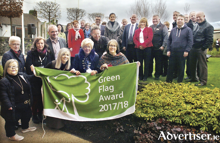 There was a big turn out at the raising of the Green Flag for the Jackie Clarke Collection in Ballina last week. Photo: Henry Wills