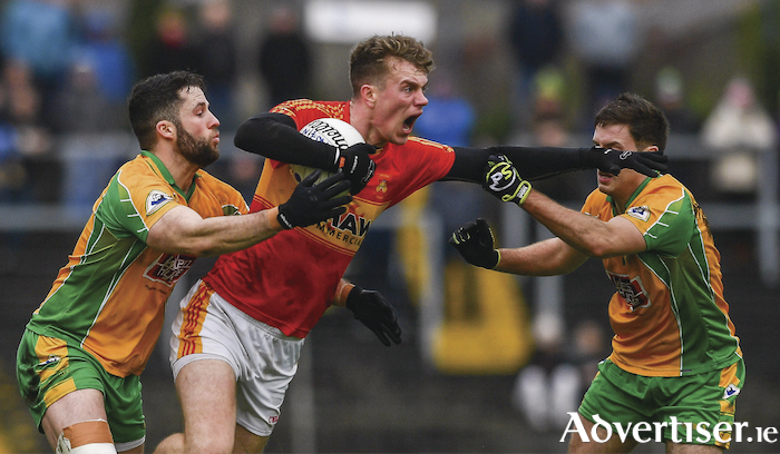 Danny Kirby tries to make some yards for Mitchels. Photo: Sportsfile