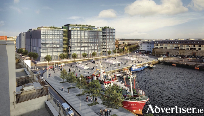 Image of how the proposed Bonham Quay development will look.
