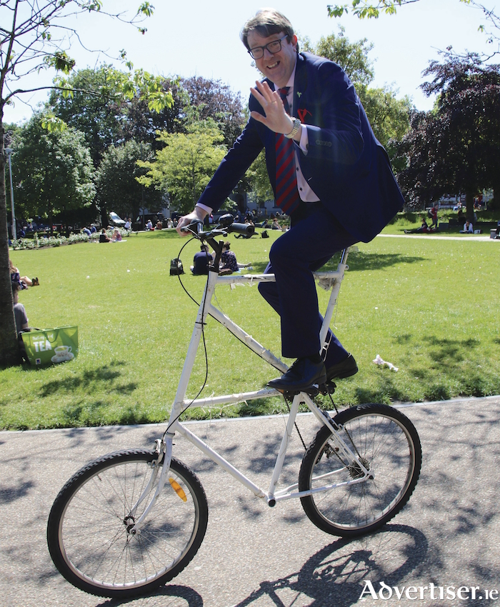 Cllr Niall McNelis will need all the pedal power he can muster to get Labout back in contention in Galway West. Photo:- Mike Shaughnessy