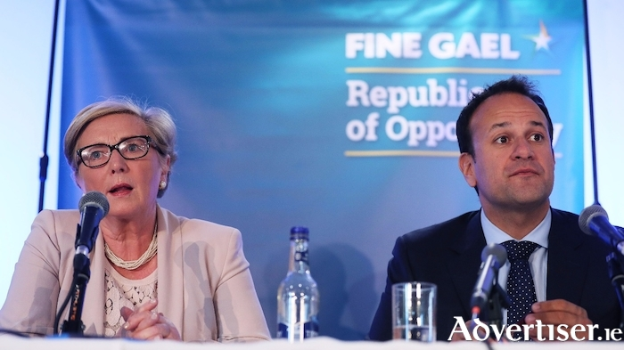 Happier times: former Tánaiste Frances Fitzgerald with An Taoiseach Leo Varadkar.