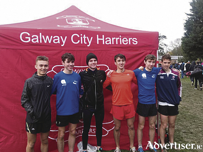 National champions: The winning GCH junior men's cross country team (l-r): Eanna Folan,  Michael Healy,  Joe Tannian, James Frizzell, Thomas McStay, and Aaron Brennan.