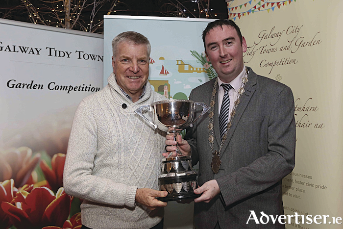 Deputy Mayor of Galway City, Councillor Mike Cubbard, with Micheal Duffy.