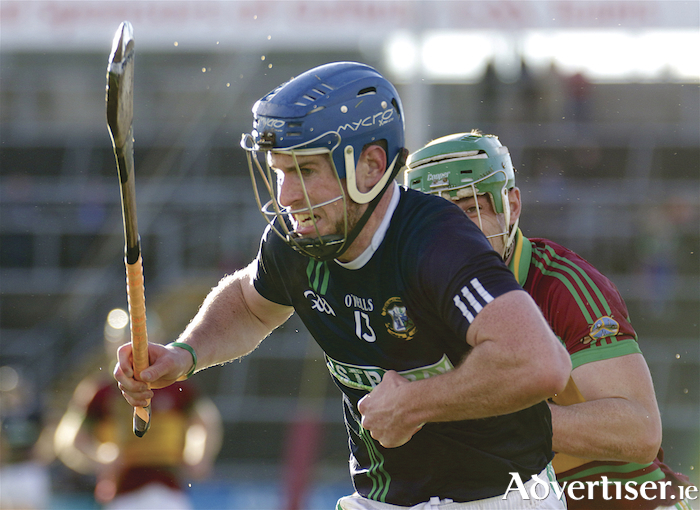 Liam Mellows Tadgh Haran about to score against Gort in action from the Salthill Hotel Galway County Senior Hurling Championship final at Pearse Stadium on Sunday. 					Photo:-Mike Shaughnessy