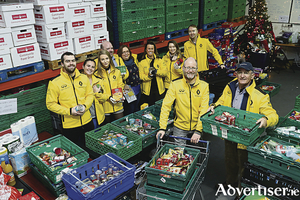 The Renault team packages up parcels for Crosscare.