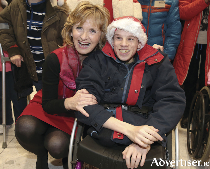 Adi Roche with  Igor Shadzkou during his Christmas visit last year. Picture: Brian McEvoy.