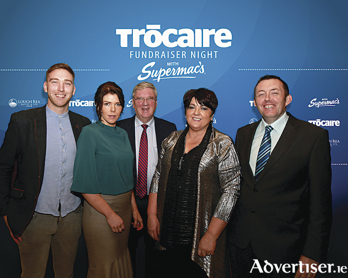 John McDonagh, Marie McDonagh, Pat McDonagh and Una McDonagh of Supermac's with Seán Farrell of Trócaire at the Supermac's Trócaire Fundraiser Night at the Loughrea Hotel and Spa, Co Galway.