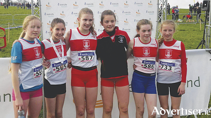 GCH U13 girls' team - fourth placed team at the national U13 cross country.