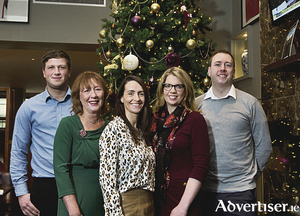 Launching the Home for Christmas event at the Connacht Hotel Galway are: Damian Byrne (CREGG Recruitment), Mary Keaveney (LookWest.ie), Nicola Mullin (CREGG Recruitment), Aisling Conroy (CREGG Recruitment), and Ciaran McGuire (CREGG Recruitment).