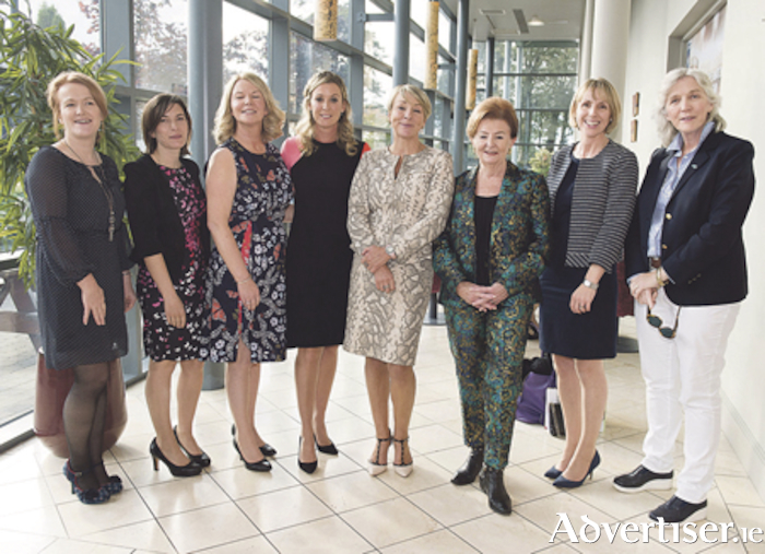 Anne Walsh, Mary Carty, Evelyn O'Toole, Chanelle McCoy, Tracy Piggott, Breege O'Donoghue, Maria Staunton and Hannah Kiely. Photo: Andrew Downes/Xposure