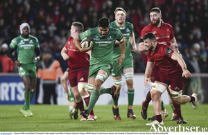 Key men: Jarrad Butler of Connacht in action against Conor Oliver of Munster during the Guinness PRO14 match between Munster and Connacht at Thomand Park in Limerick. 			Photo by Matt Browne/Sportsfile