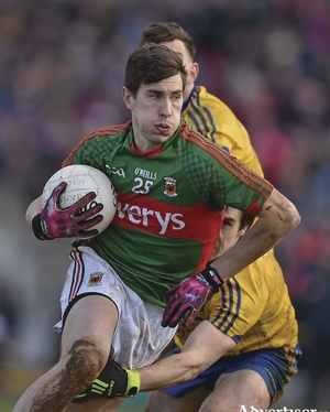 Back in the fold: Alan Freeman returned to action for Mayo against Leitrim on Wednesday night. Photo: Sportsfile