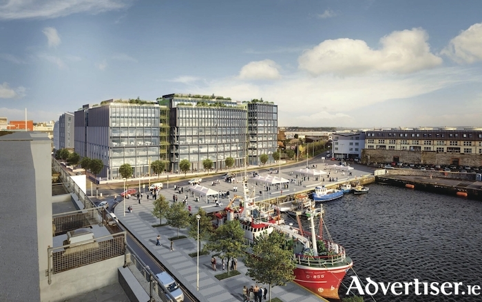 Artists view of the proposed Bonham Quay development.