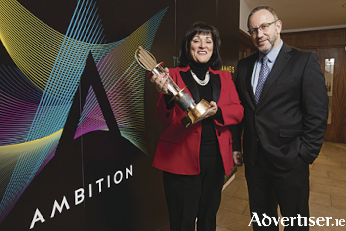 Picture shows from left at the launch of the EY Entrepreneur Of The Year™ 2018 was Anne Heraty, Chairperson of the judging panel; and  Kevin McLoughlin, Partner, EY. The nomination window for this year's programme is open until February 16. Pic:Naoise Culhane