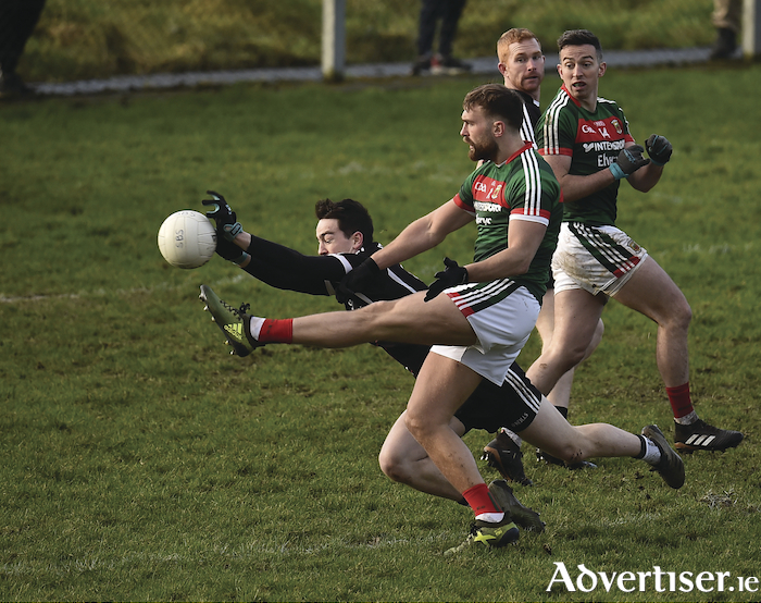 Back in the swing of things: Aidan O'Shea was back in Mayo colours on Sunday against Sligo. Photo: Sportsfile