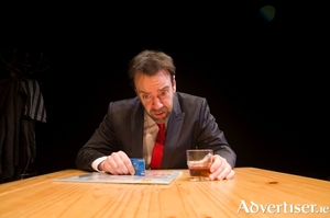 Liam O'Brien in Bottom Dog Theatre Company's production of Drinking In America.