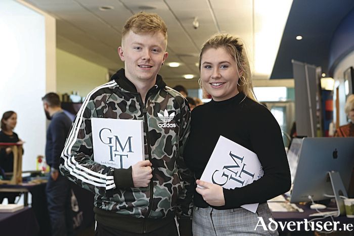 Pictured at the GMIT open morning in Galway, ahead of the CAO normal application deadline of February 1, were Sean Plunkett and Emer Matthews from Carrick-on-Shannon, Co Leitrim.
