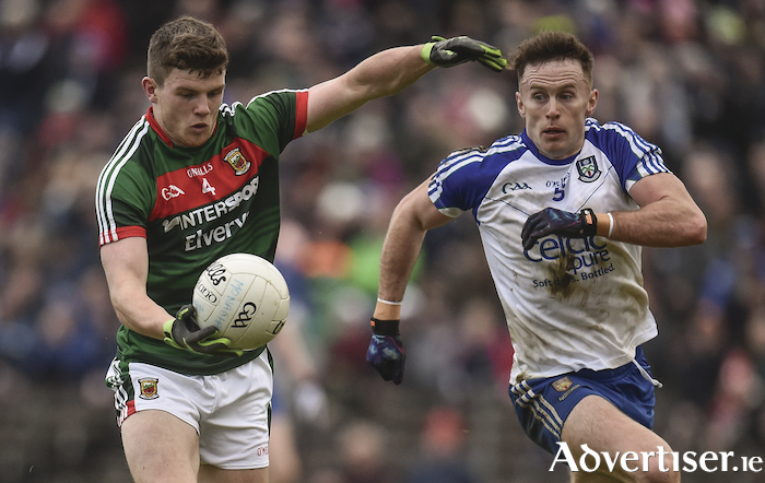 Beating heart: Eoin O'Donoghue put in a brilliant performance for Mayo on Sunday. Photo: Sportsfile