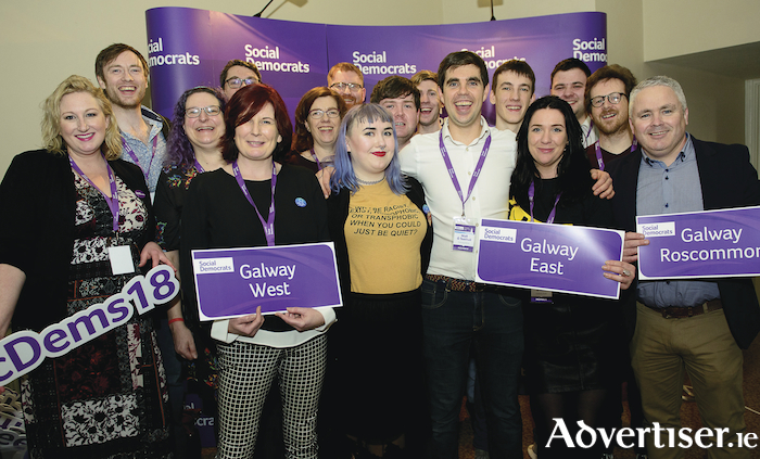 Members of the Galway West, Galway East, and Galway-Roscommon branches of the Social Democrats at the National Conference in Dún Laoghaire last week.