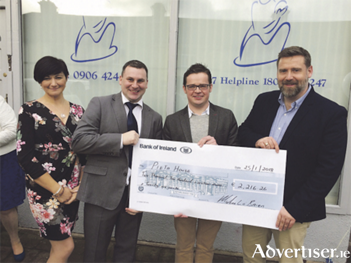 Local Independent Councillor, Michael O'Brien presented Pieta House Athlone with a cheque to the value of €2,216.26 from his Christmas single profits at the Official opening of Pieta House in Athlone last week