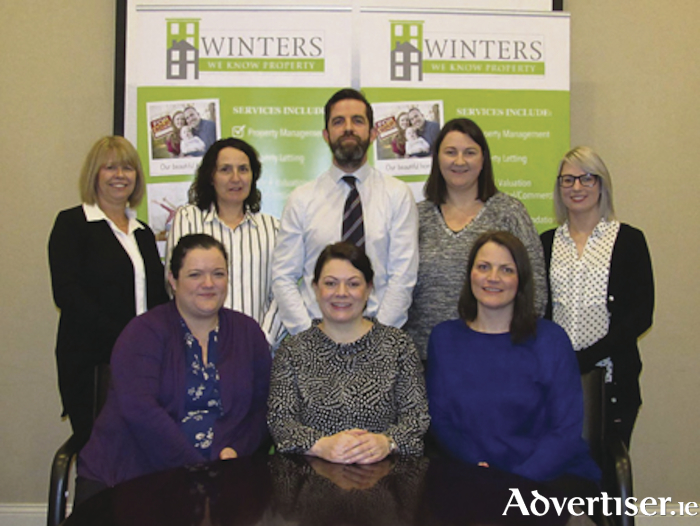 Winters' student accommodation team. Back row: Julie Small, Mary Fox, Martin Gill, Sinead Garton, and Grace O'Malley. Front: Jacinta Kelly, Sinead Barrett, and Tamara Clarke.