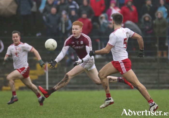 Moycullen footballer Peter Cook in action for Galway from the Allianz National Football League game against Tyrone at Tuam Stadium on Sunday. Photo: Mike Shaughnessy.