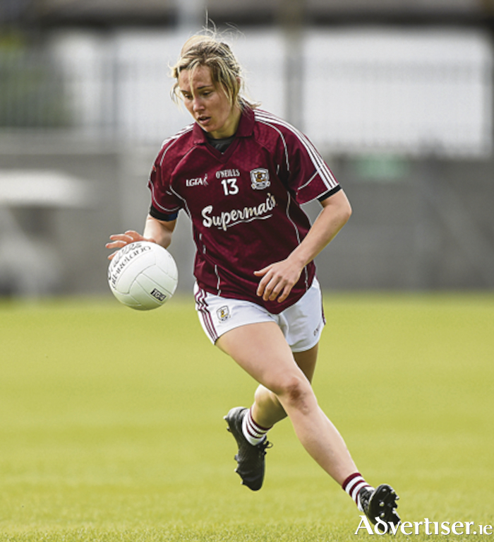 Tracey Leonard of Galway Ladies found the back of the net on Sunday in Bekan. Photo by Matt Browne/Sportsfile.