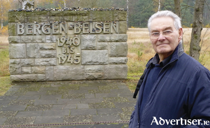 Tomi Reichental at the Bergen-Belsen concentration camp.