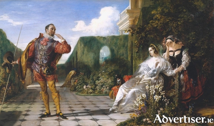 Malvolio and the Countess, an 1840 painting by Daniel Maclise.