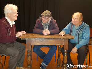Wayne O'Connor, Michael Roper, and Gerry Farrell star in The Drawer Boy presented by the Beezneez Theatre Company in the Linenhall Arts Centre on Monday, March 5, at 8pm.